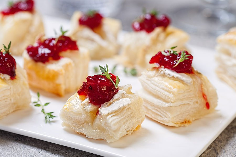 bonnet house wedding menu | brie in puff pastry