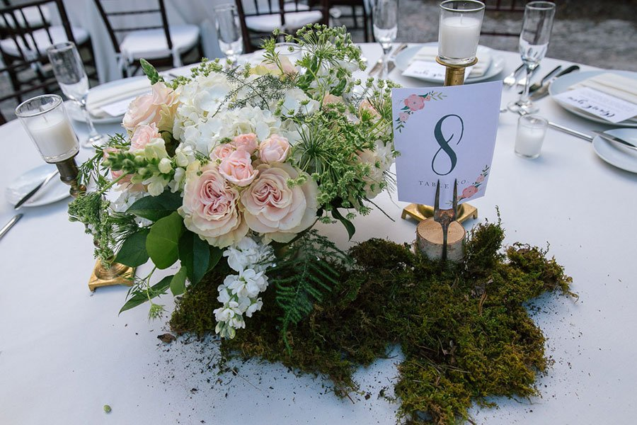 wedding seating chart ideas | vintage table number display