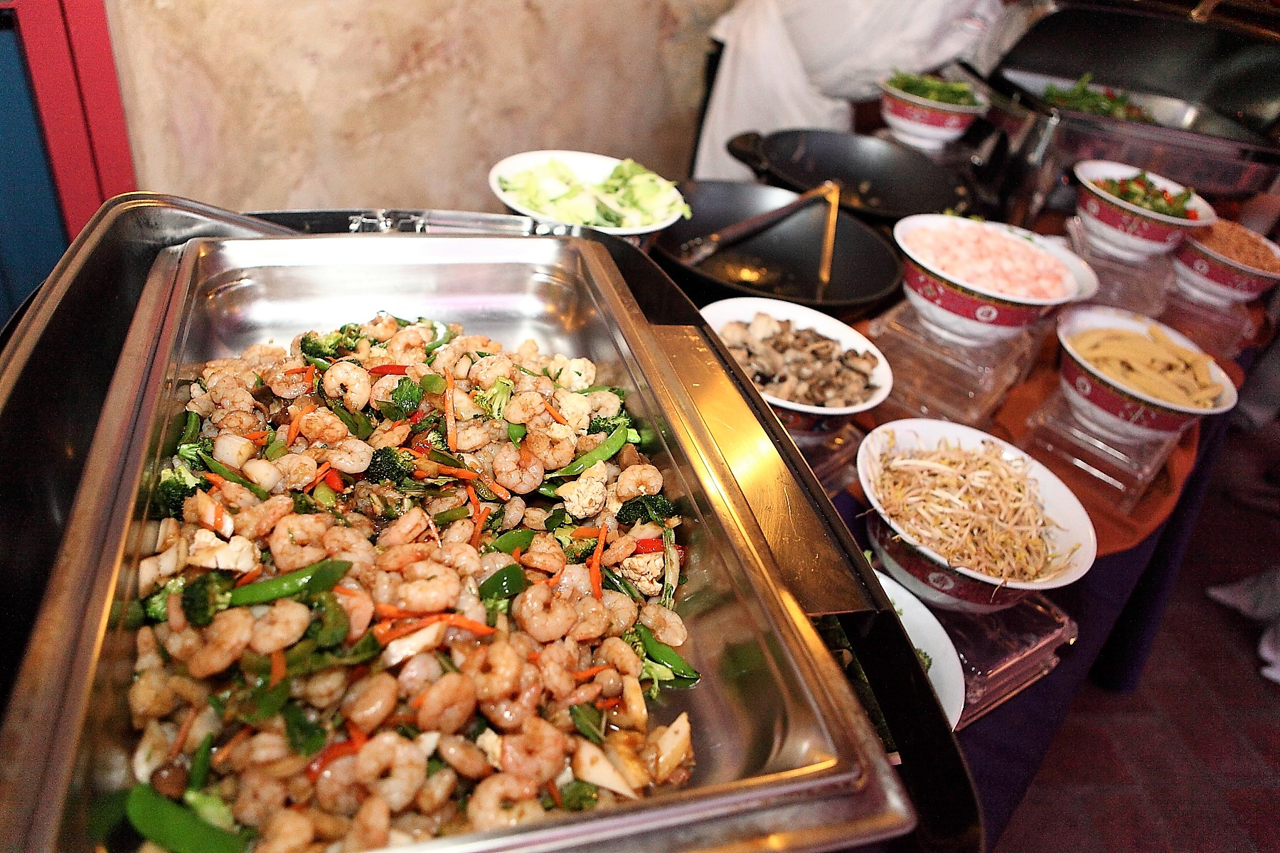 coral gables wedding catering | asian stir fry station