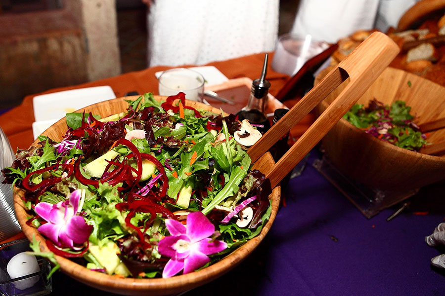 coral gables wedding catering | mixed greens with beets