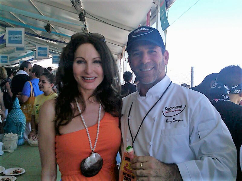 chef gary lampner and tara solomon at south beach wine and food festival
