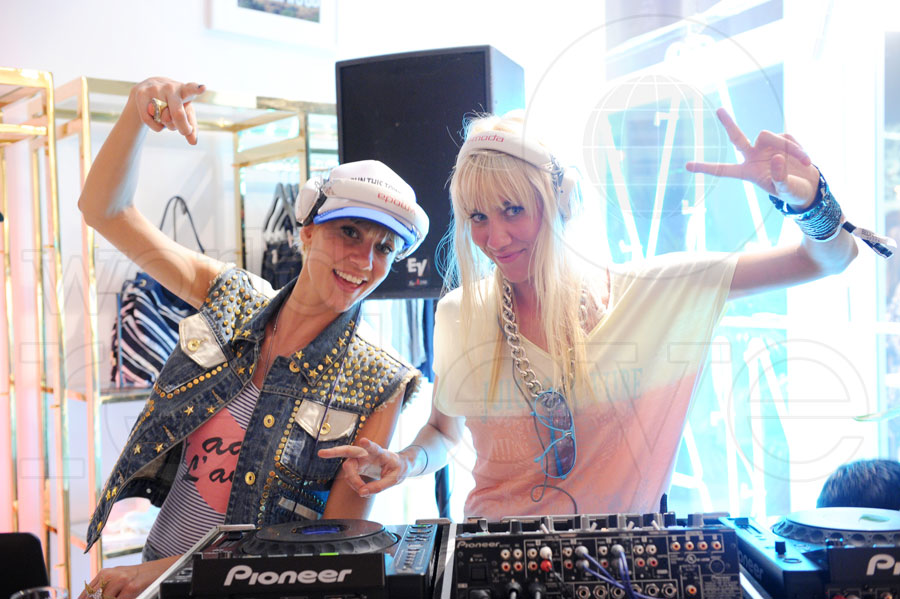 DJ Nervo at Juicy Couture South Beach Grand Opening Party