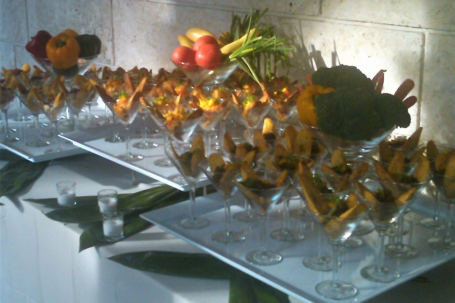 tv production catering | wrap party for the glades | tostones station