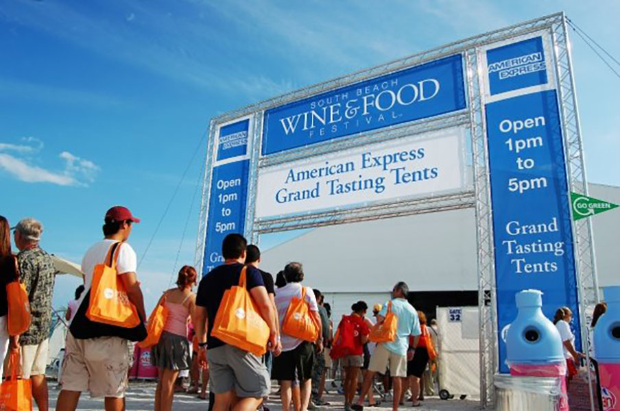 2012 south beach food and wine festival | grand tasting village