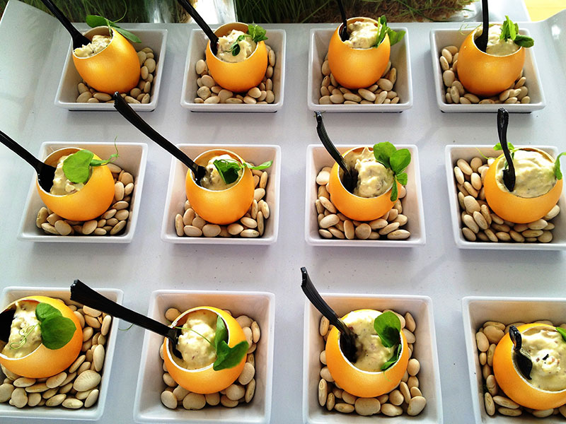 south beach food and wine festival | eggwhites catering duck mousse