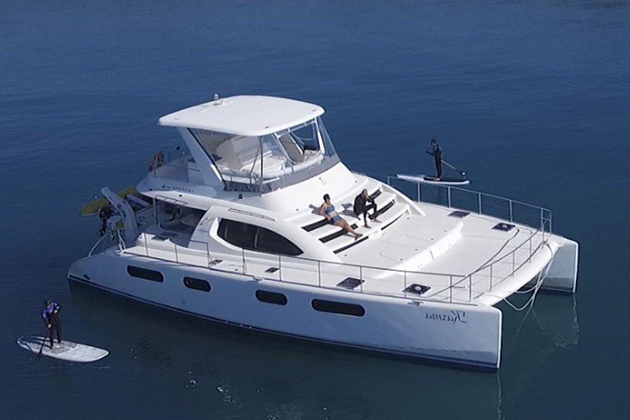 yacht catering aboard a leopard catamaran