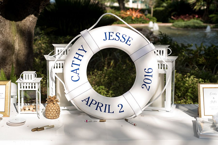 Nautical rustic themed wedding reception at Thalatta Estate in Miami