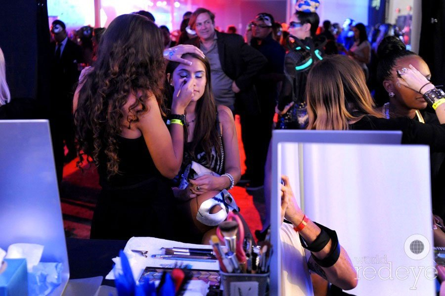 Guests enjoyed free makeovers at the Absolut X Miami event at Soho Studios