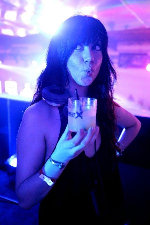 DJ Jessica Who at Absolut X Miami event at Soho Studios