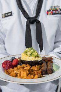 Breakfast Aboard the USS Cole