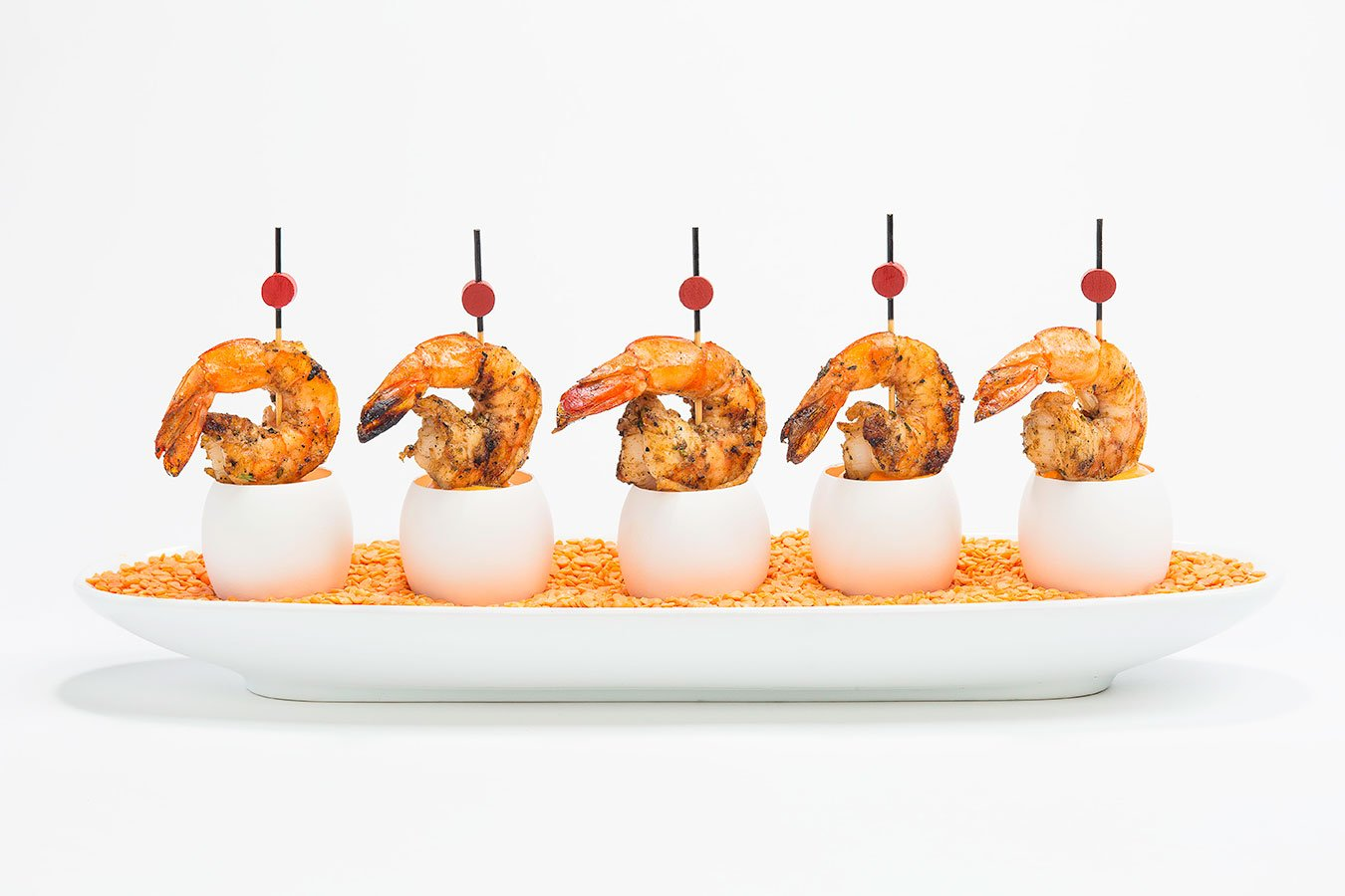 Eggwhites Catering menu | grilled spiced shrimp