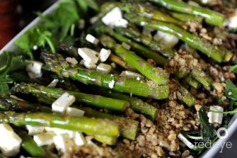 Asparagus with Feta and Walnuts