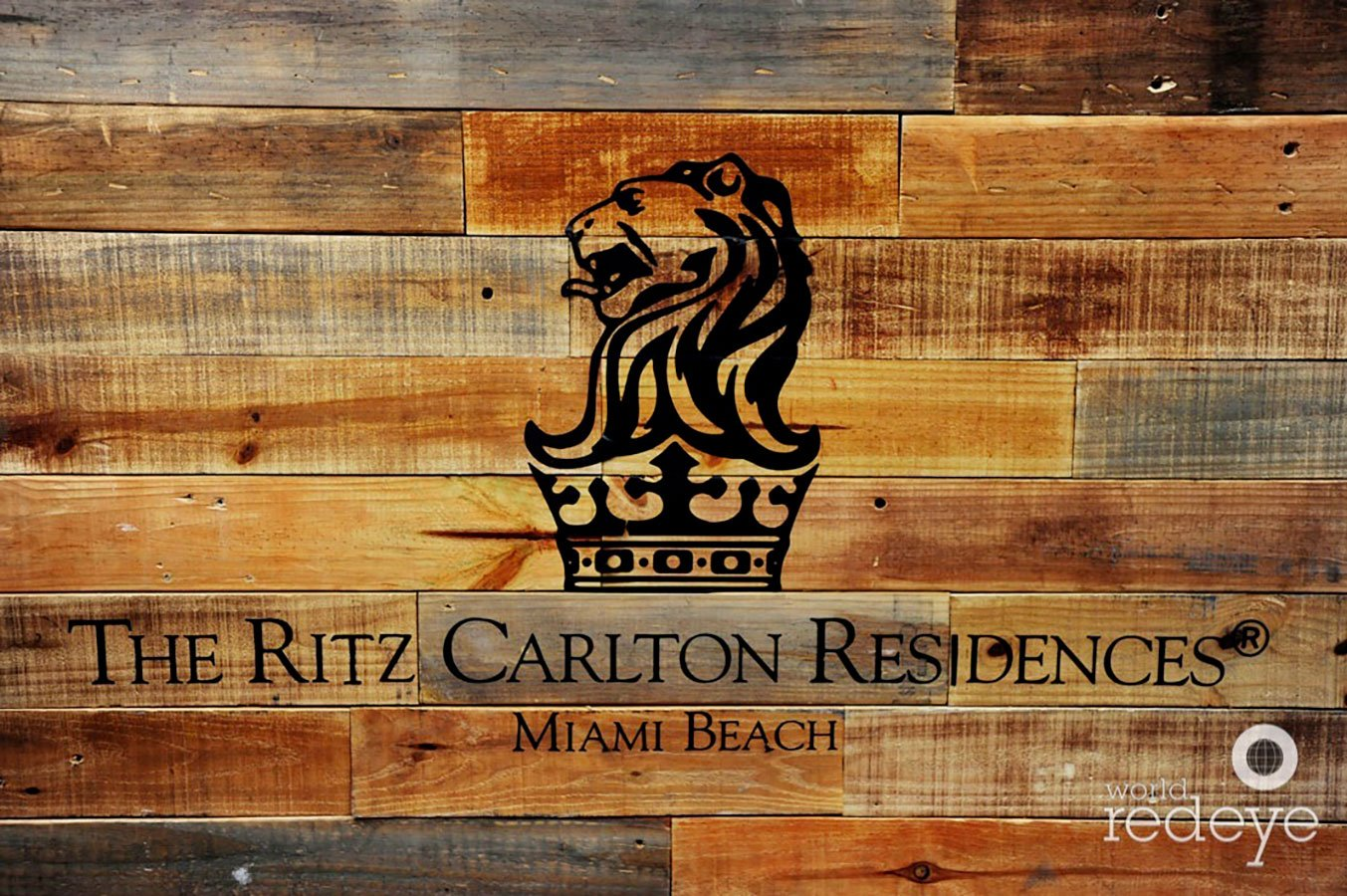 Ritz-Carlton Residences Miami Beach wood sign