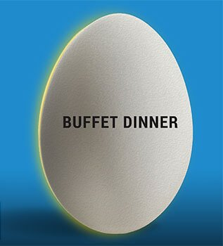 Eggwhites Catering Buffet Dinner menu