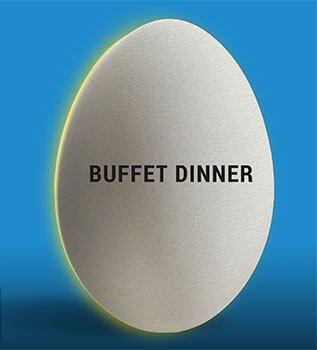 Eggwhites Catering Buffet Dinner menu