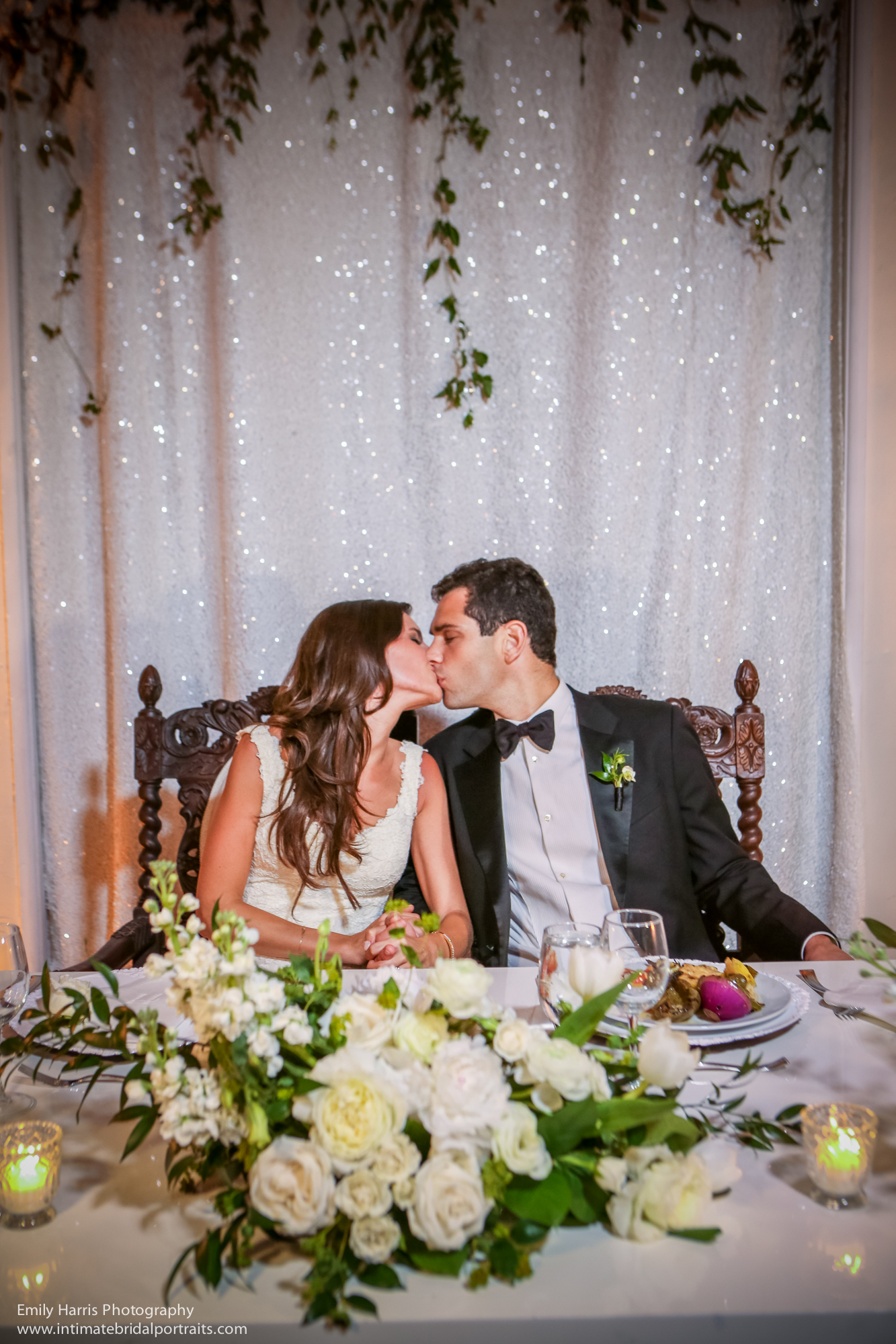 Classic romantic all-white wedding at The Bath Club