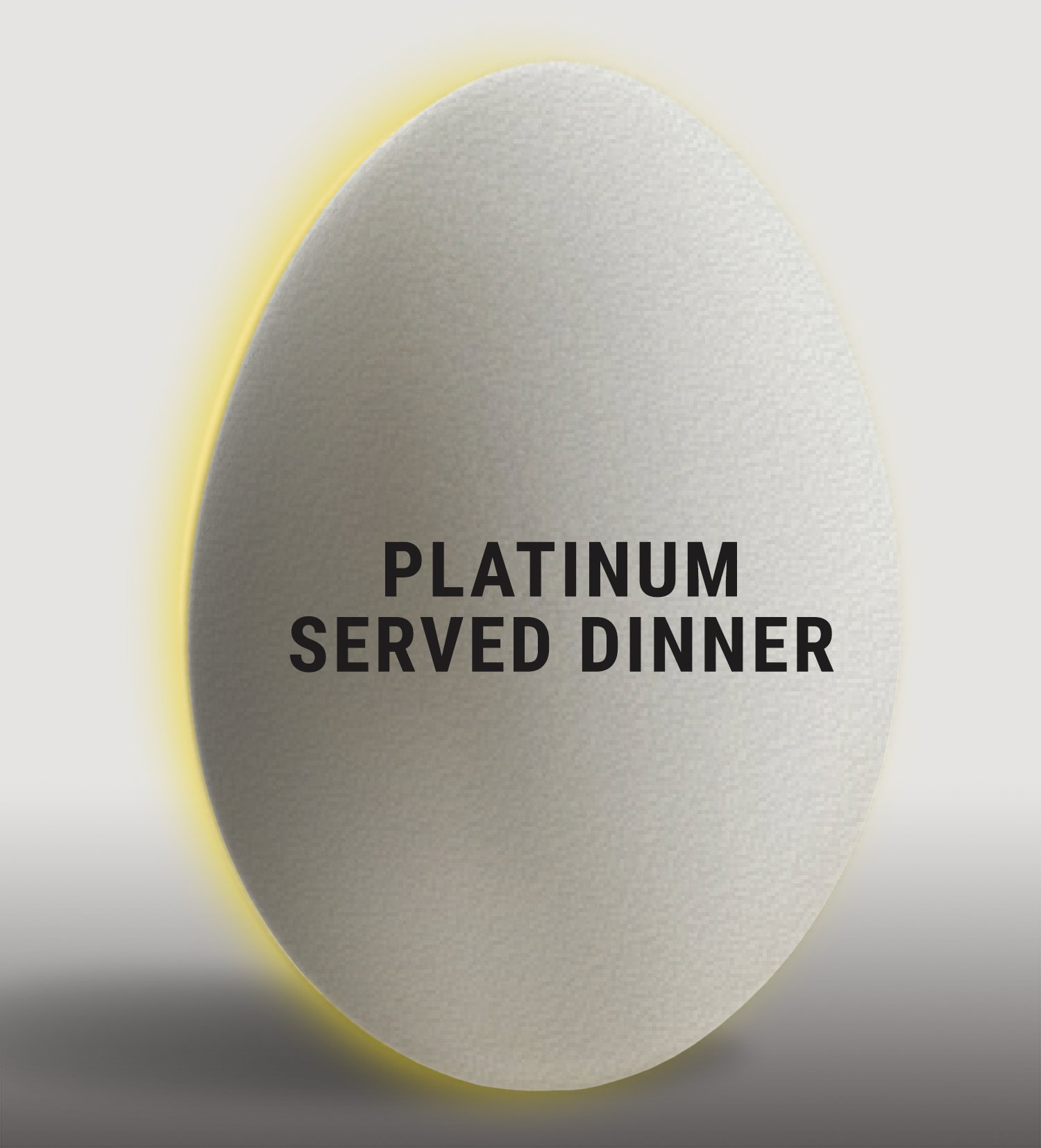 Eggwhites Catering Platinum Wedding Package | Served Dinner Menu