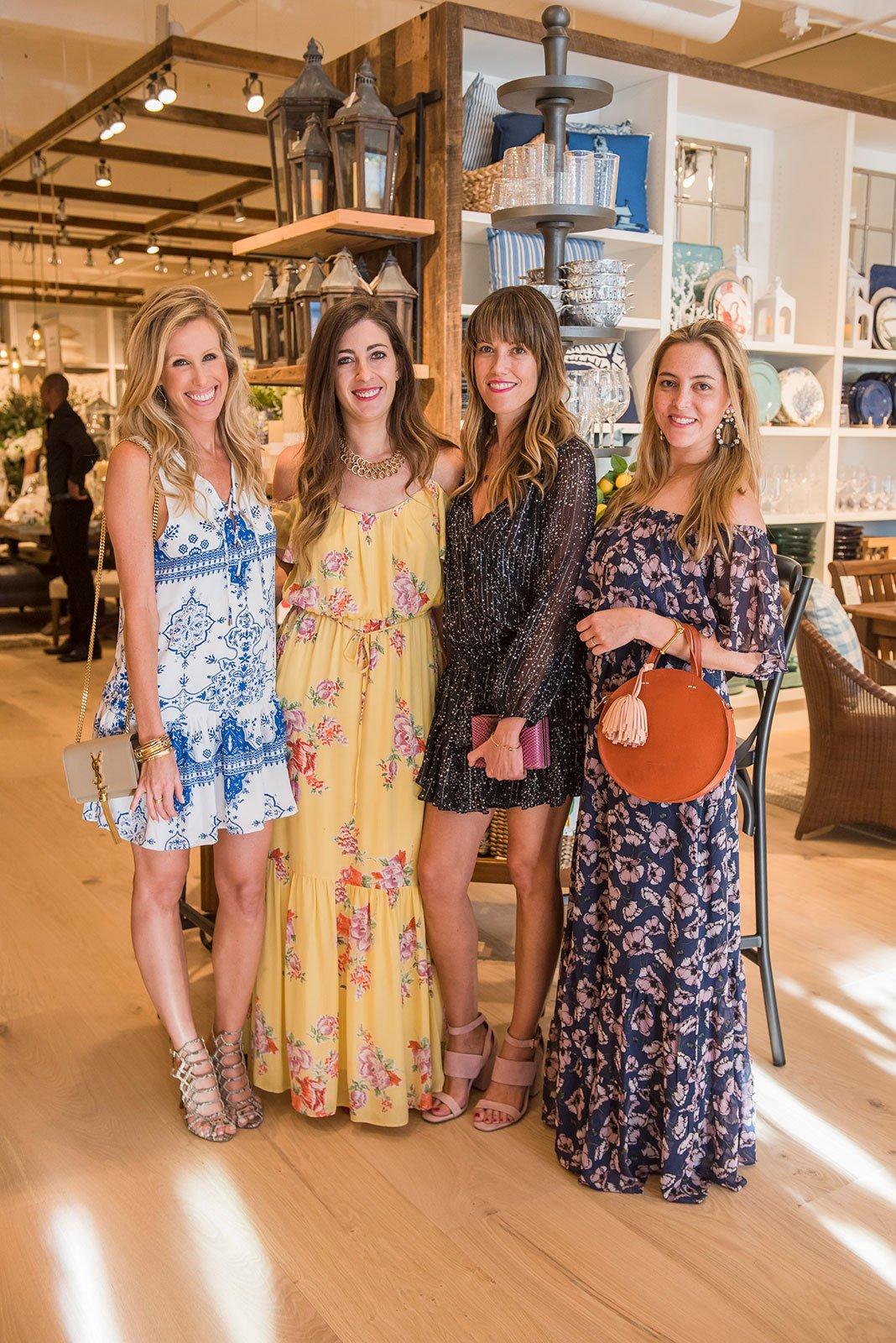 Pottery Barn South Beach Grand Opening co-hosts Amanda Gluck, Katya Libim, Ana Linares and Amri Kibbler