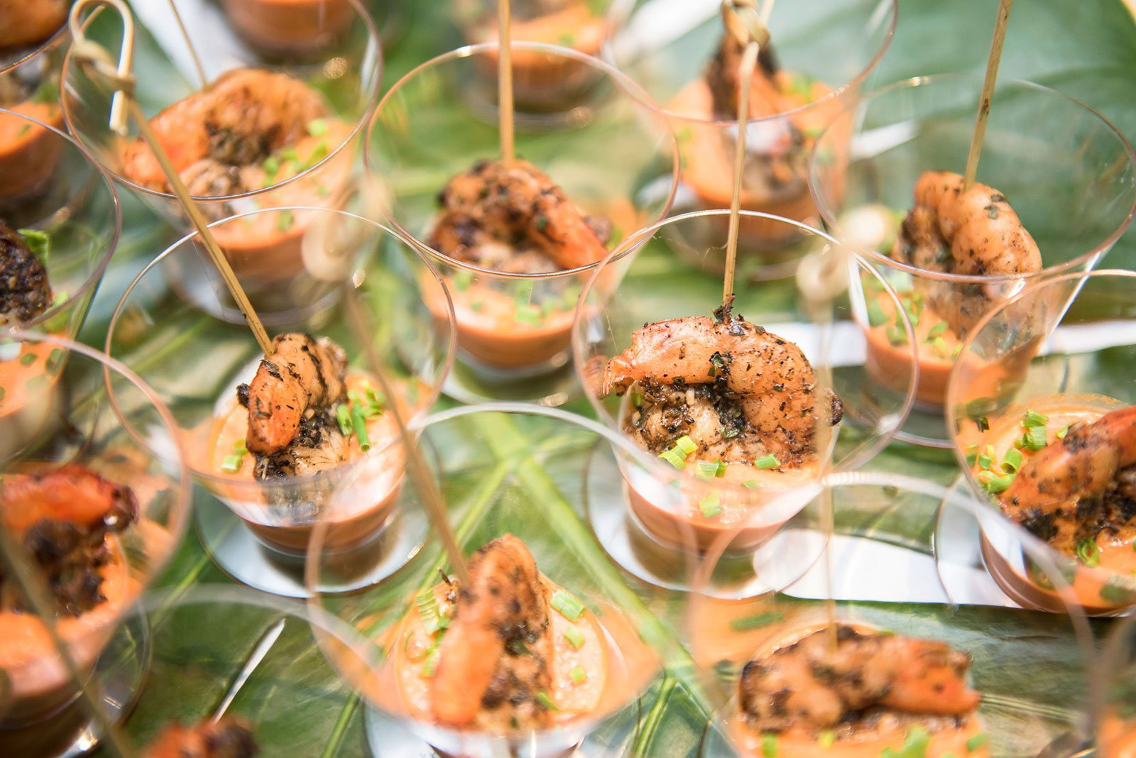 Grilled and Chilled Spicy Island Shrimp was served at the 2017 Billboard Latin Music Awards VIP After-Party