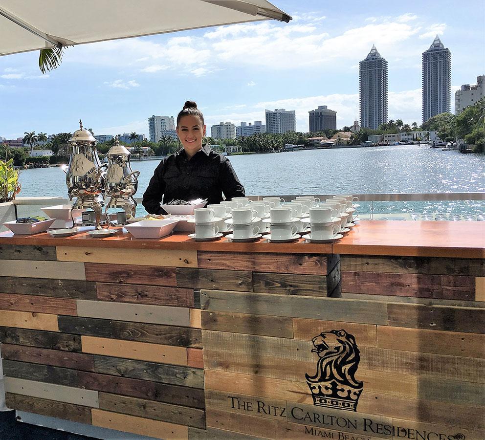 Eggwhites Catering Coffee Service at Ritz Residences Miami Beach