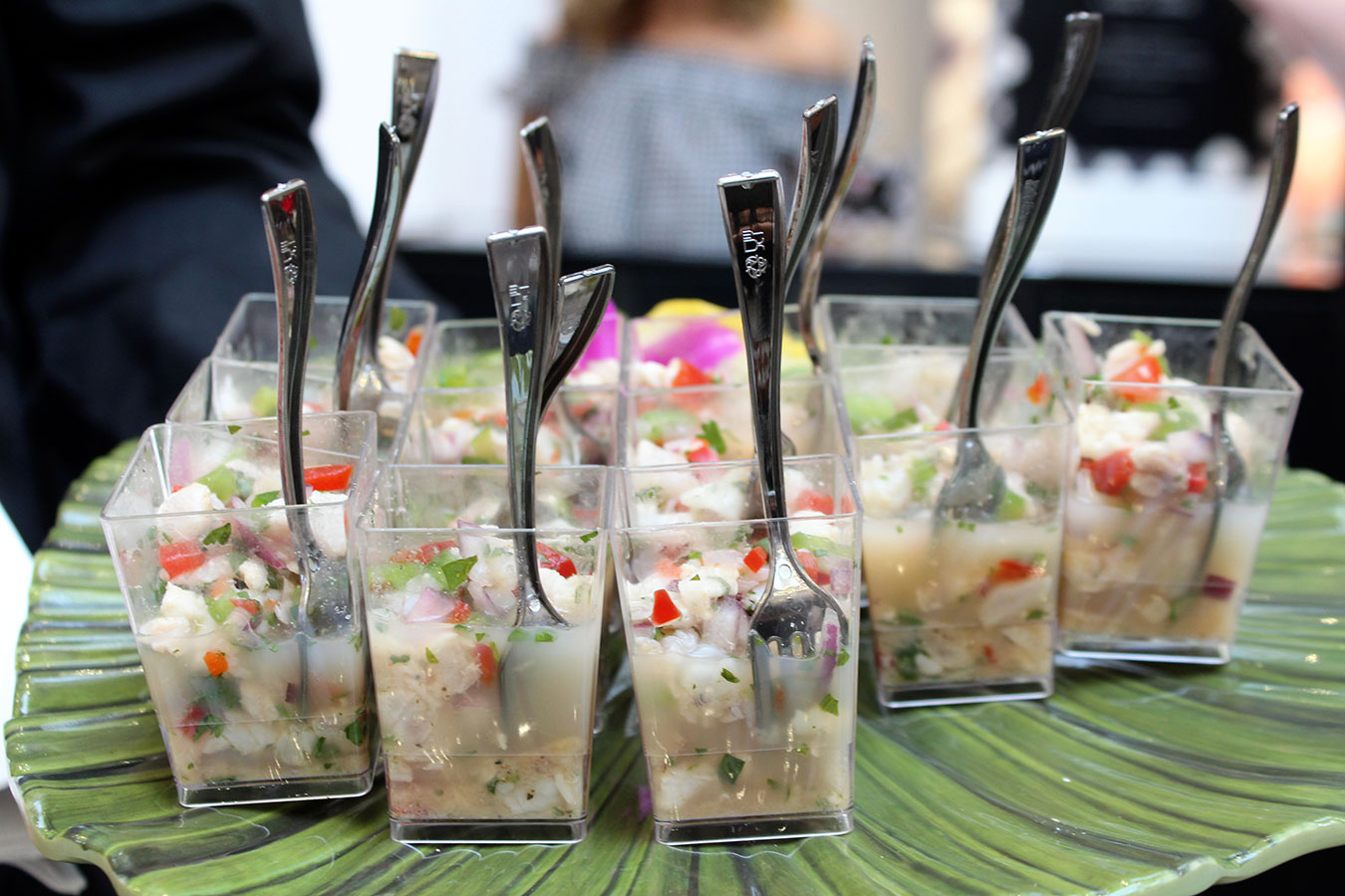 Ceviche with cilantro, habanero and lime was served at the GUESS Lincoln Road store A Bikini A Day event