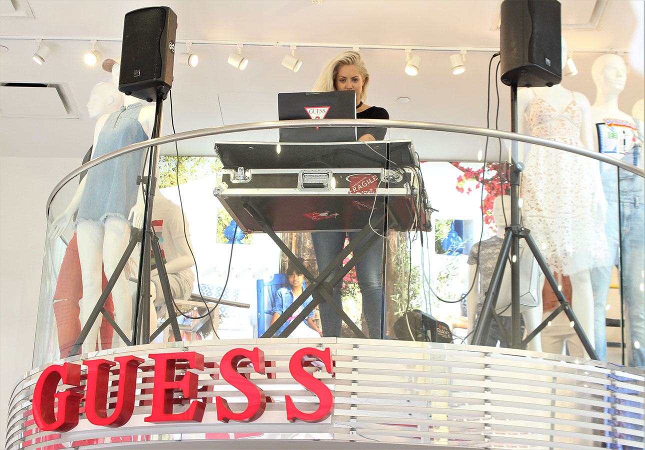 DJ at GUESS Lincoln Road store event