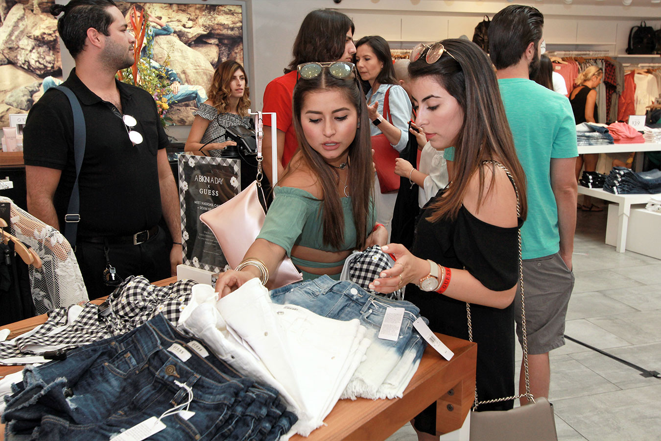 Guests shopped the GUESS summer apparel collections at the GUESS Lincoln Road in-store A Bikini A Day event