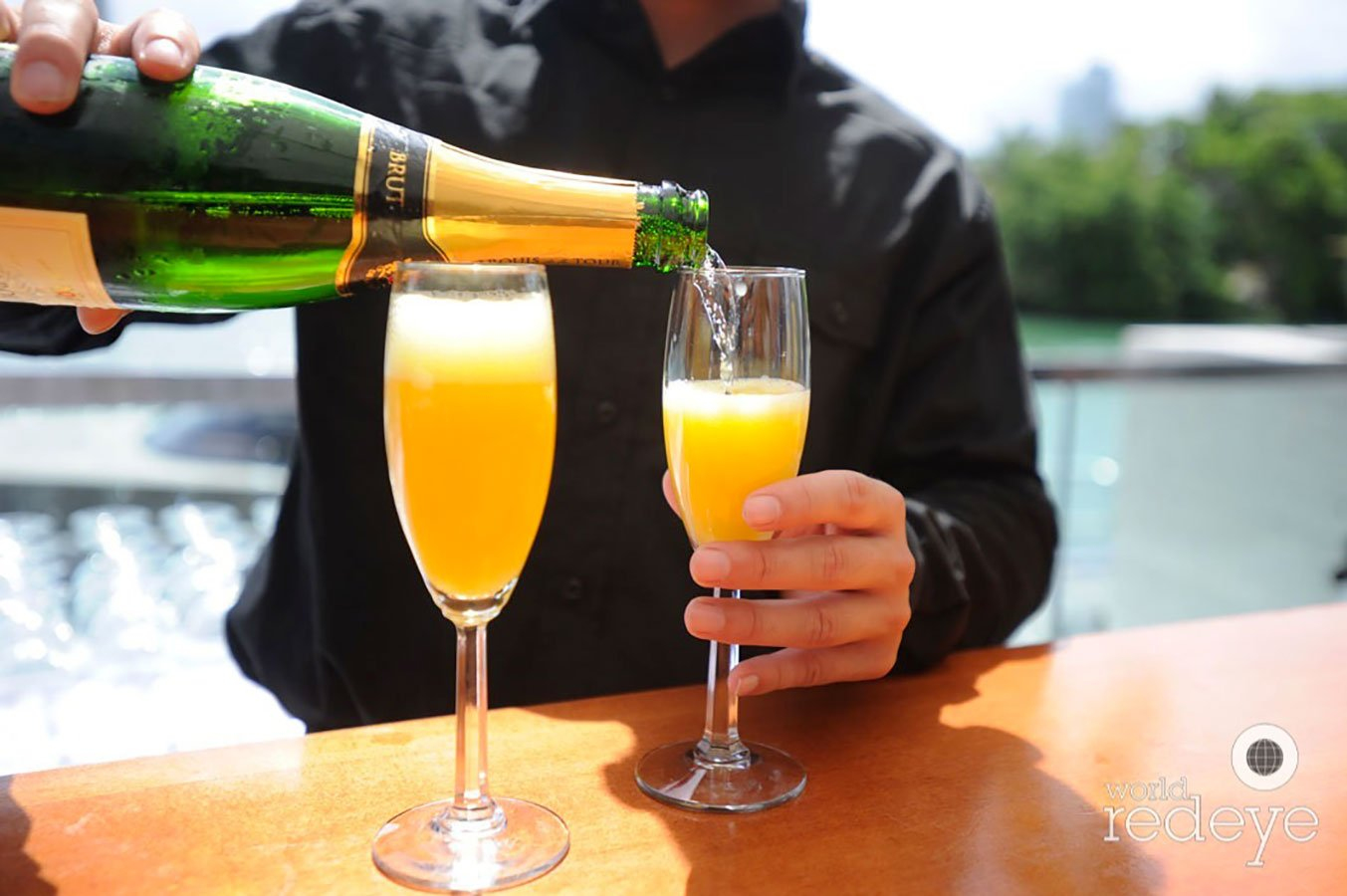 Mimosas at Ritz Carlton Miami Beach Brunch for Sotheby's