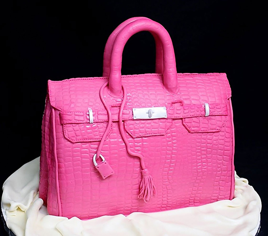 Fashion  + Food | Hermes Birkin Bag cake