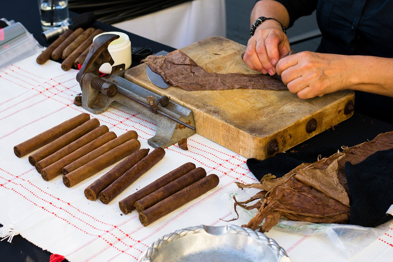 Cigar rolling demonstration at Southwest #Heartoftravel event in the FATVillage Arts District