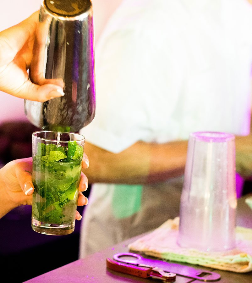 Cuban mojito at the Southwest #Heartoftravel event in the FATVillage Arts District