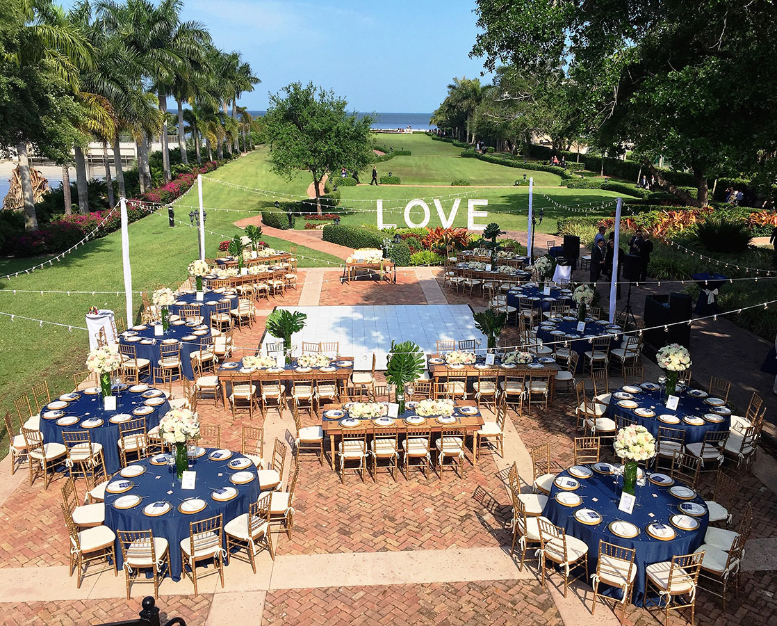 Wedding at Deering Estate. Photo courtesy of Miguel Ocque Photography.