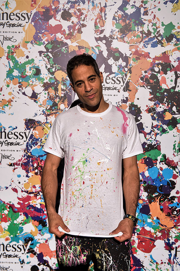 Renowned graffiti artist JonOne  at Hennessy VS Limited Edition by JonOne event at Cafeina Wynwood