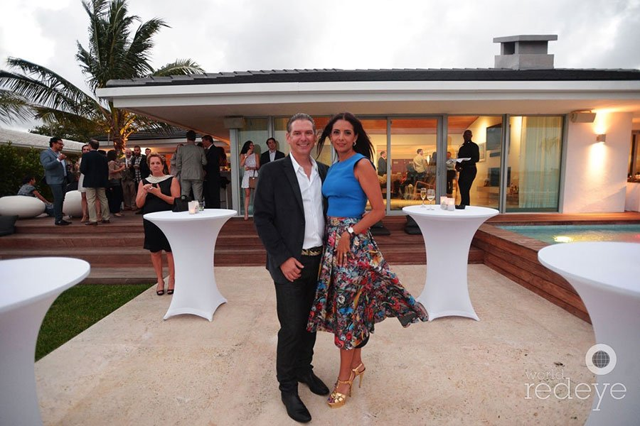 Jeff and Valentina Gutchess at PAMM party | Eggwhites Special Event Catering Miami