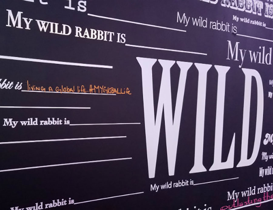 Hennessy Project Wild Rabbit inspiration wall | art Basel party