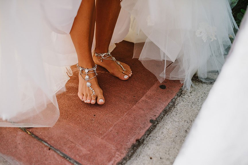 barefoot south florida beach wedding