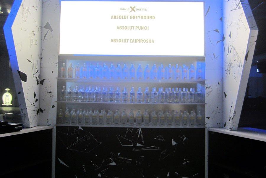 Absolut X custom bar for Miami event at Soho Studios