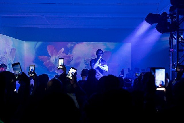 Hip-hop artist Dave East performs at Soundcloud x 1800 Tequila Art Basel party 2017