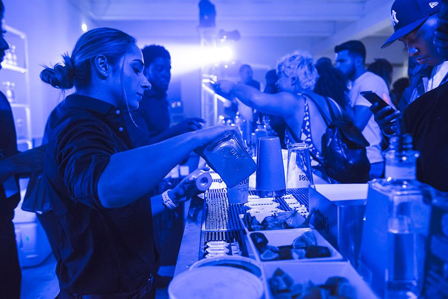 Eggwhites Special Event Catering Miami  FL | Bar service at Soundcloud x 1800 Tequila Art Basel Party | Wynwood Arts District