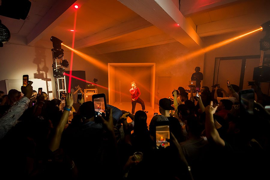 Atlanta rapper MadeinTYO performs at Soundcloud x 1800 Tequila Art Basel party 2017