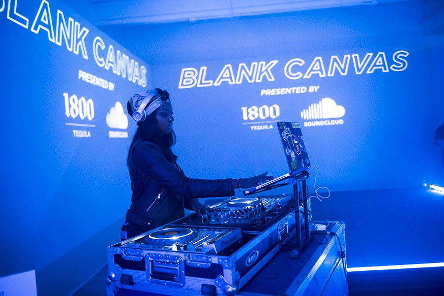 DJ Ohso performed at the  Soundcloud x 1800 Tequila Art Basel Party | Wynwood Arts District