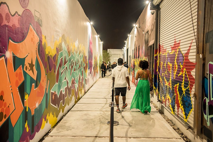 'Blank Canvas' Art Basel exhibition took place at the corner of 26th Street and 5th Ave in Wynwood