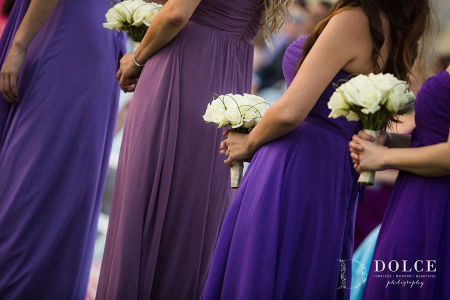 2018 Wedding Colors | Ultra Violet | Bridesmaids dresses are bold and beautiful