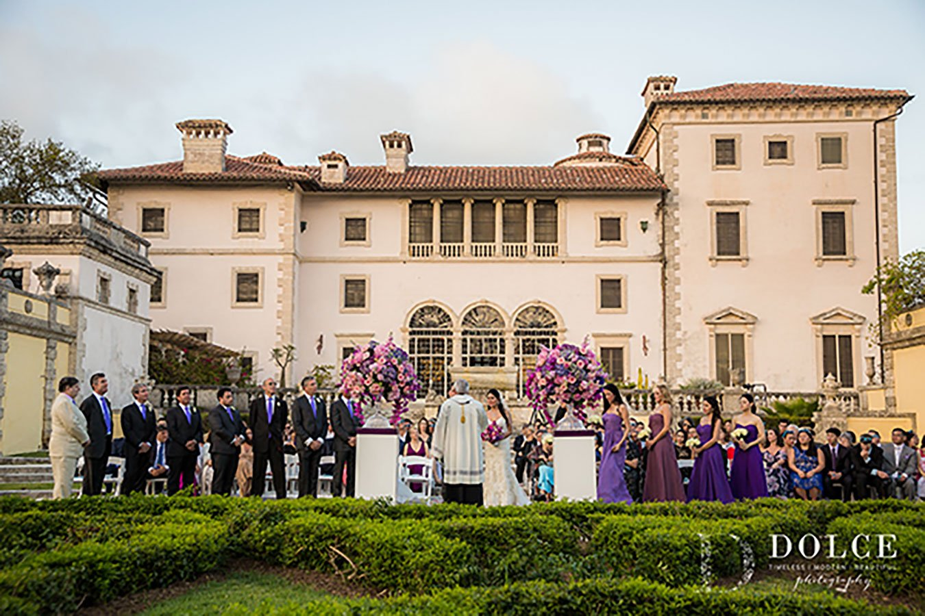 Vizcaya Museum and Gardens provide a stunning backdrop for a Miami wedding