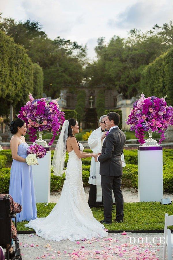 luxury wedding venues in miami outdoor | vizcaya