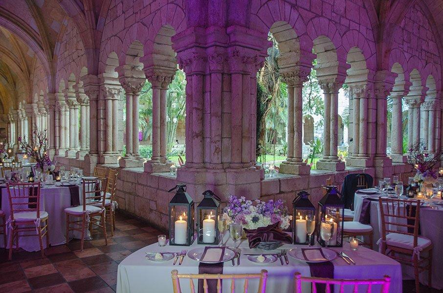 Tables | Ancient Spanish Monastery wedding reception set up