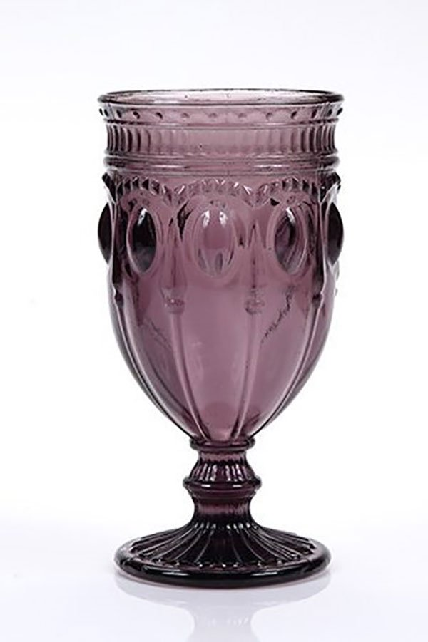 2018 wedding colors | amethyst water goblet