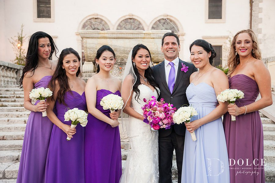 2018 Wedding Colors | Ultra Violet | Bridesmaids dresses are bold and beautiful in hues of ultra violet, violet, plum and iris
