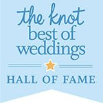 Eggwhites Catering award for The Knot Best of Weddings Hall of Fame