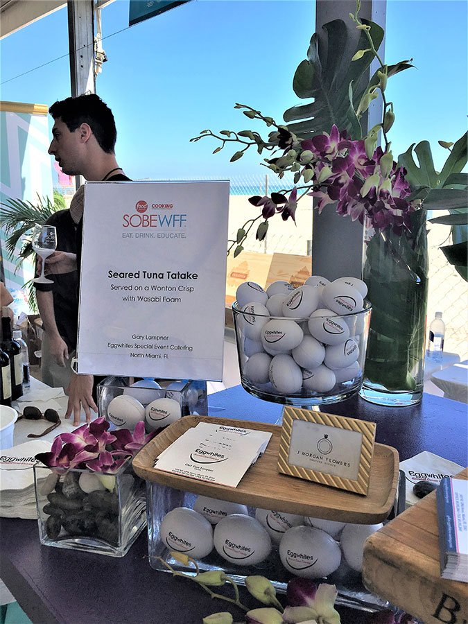 Eggwhites Catering booth at South Beach Wine and Food Festival 2017